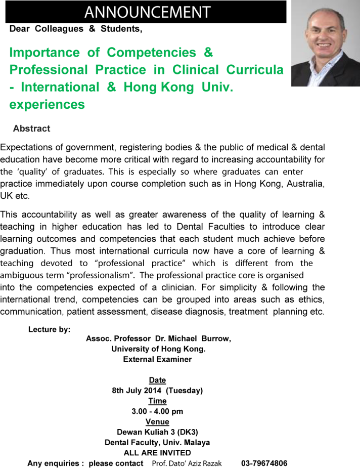 Michael Burrow Public lecture 8.7.14