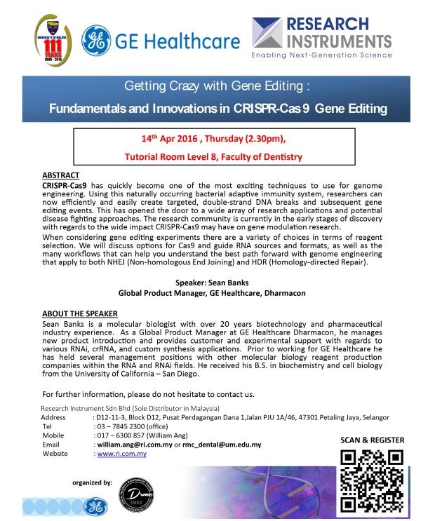 Dharmacon CRISPR Seminar (UM Dentistry)-2
